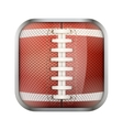 Square icon for american football app or games vector image vector image