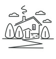 suburban house or cottage in village isolated vector image