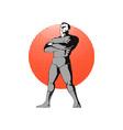 Super Hero Standing Retro vector image vector image