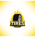 template tires shop logo vector image vector image