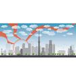 Tokyo skyline vector image vector image