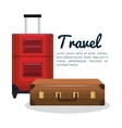 travel suitcases design isolated vector image