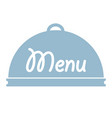 tray fork spoonknife in menu design stock vector image vector image