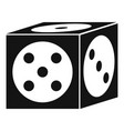 vegas dice icon simple style vector image vector image