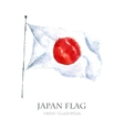 Watercolor Japan Flag vector image