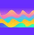 wavy geometric background trendy gradient shapes vector image