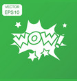 wow comic sound effects icon business concept wow vector image vector image