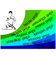 yoga infographics vector image vector image