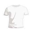 plain white t shirt vector image