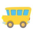 School bus icon cartoon style vector image