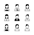 people avatar icons vector image
