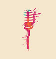 abstract musical image a bright microphone vector image