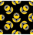 Abstract seamless pattern with black and yellow vector image vector image