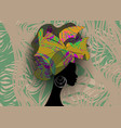 african wedding hairstyle head wrap colorful scarf vector image