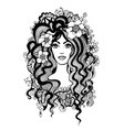 Artistic black and white vector image vector image