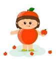 baby in a peach suit vector image vector image