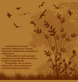 beautiful nature landscape with flying birds vector image vector image