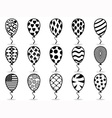 black pattern balloon icons vector image vector image