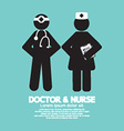 Black Symbol Doctor And Nurse vector image vector image
