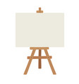 blank art board and realistic wooden easel wooden vector image vector image