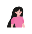 cartoon character young woman portrait icon vector image vector image