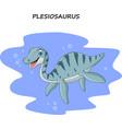 cartoon smiling plesiosaurus vector image vector image