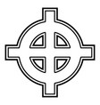 celtic cross white superiority icon black color vector image