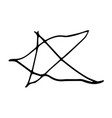 childish drawing of star shape in vector image