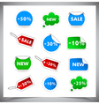 Collection Of Selling Badges and stickers vector image vector image