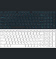 computer keyboard isolated gray and white version vector image vector image