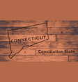 connecticut map brand vector image vector image