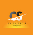 cs c s letter modern logo design with yellow vector image vector image