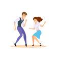 dancing couple swing dancers vector image vector image