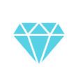 diamond jewel gem icon in flat style diamond vector image vector image