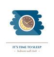 flat sleep icon vector image vector image