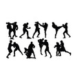 free boxing sport activity vector image