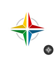 Geometric colorful star logo Rainbow flat colors vector image vector image