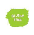 gluten free fresh vegan eco organic green vector image vector image