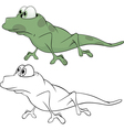 Green little lizard Cartoon vector image