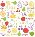 Hand drawn fruit seamless pattern vector image vector image