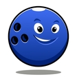 Happy colourful blue cartoon bowling ball vector image vector image