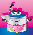happy pan in an apron vector image