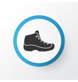 hiking boot icon symbol premium quality isolated vector image