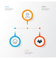 internet icons set collection of upload team vector image vector image
