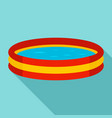 kid round pool icon flat style vector image vector image