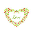love card with floral heart made beautiful vector image