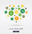 love green environmental integrated thin line vector image vector image