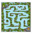 maze game for children frog and crown vector image vector image