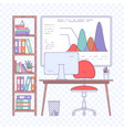 modern office open space vector image