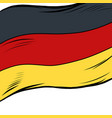 national flag of germany vector image